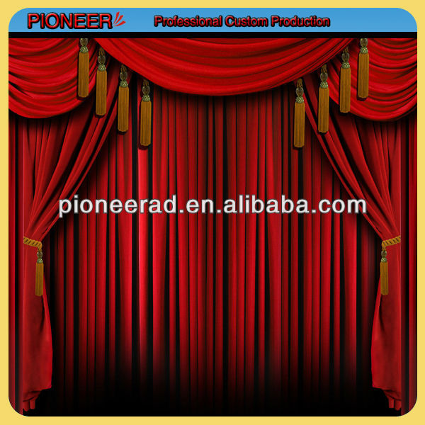 Custom printing stage backdrop curtain, vinyl stage backdrop, polyester backdrop