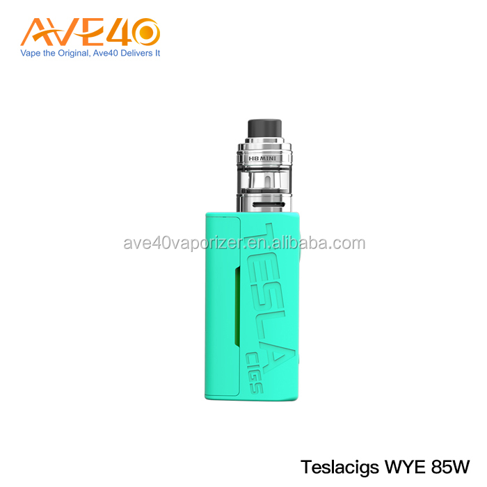 2018 Hottest Tesla vape mod Teslacigs WYE 85w with one 18650 battery