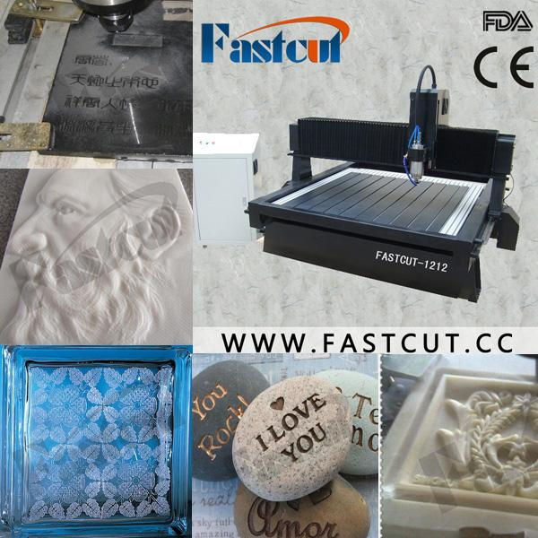 factory price on sale stone marble granite Air cooling spindle linear lineal line rail cnc drilling router