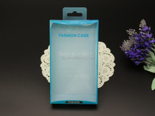 blue cell phone case packaging box , cell phone flash box
