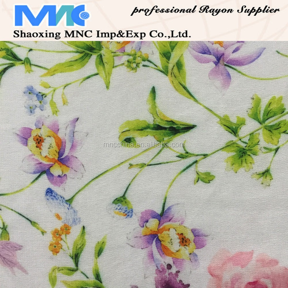 MD16017 China golden supplier digital printing fabric,rayon fabric,crepe de Chine