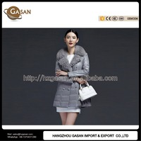 Slim Design Ladies Winter Leather Coats With Belt