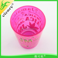 Fashion Jamaica Glass Cup With Letter Pattern Souvenir Cup wholesale