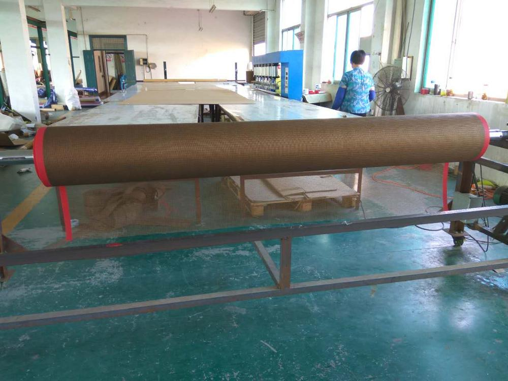 PTFE dryer conveyor belt will bull nose joint