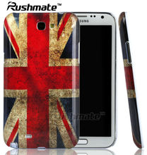 UK Flag Crystal IMD Cases Phone Accessories For Samsung Galaxy Note2 N7100 Mobile Phone Covers