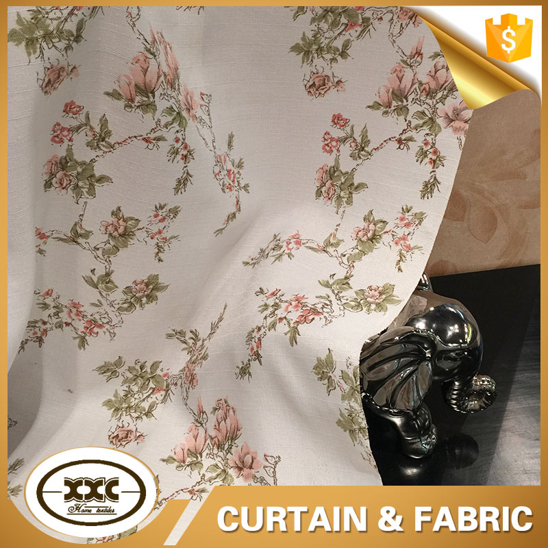 Flower ployester burnout fabric for curtain living room