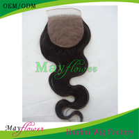 virgin mongolian hair closure body wave silk top closures invisible parting african american women