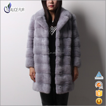 Excellent Supplier Dyed Grey Suit Collar Mink Short Jackets China Factory Real Mink Fur Coats for Sale