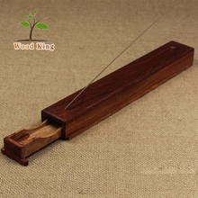 Drawer Type Polishing Wax Storage Joss Stick Box Solid Wood Incense Inserted Handmade Craft Wood Incense Holder