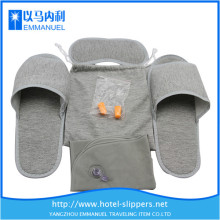gray knitted cloth disposable size 16 slippers for hotel