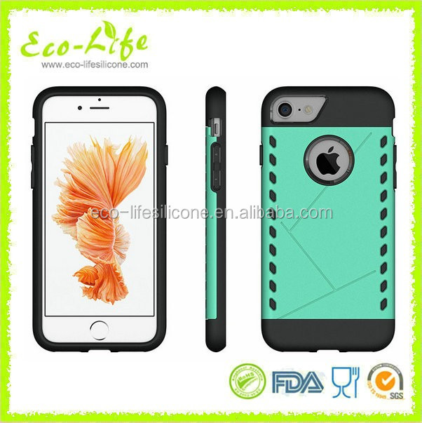 China Factory Hot Aegis design Hard PC Soft Silicone Phone Case for IPhone7Plus