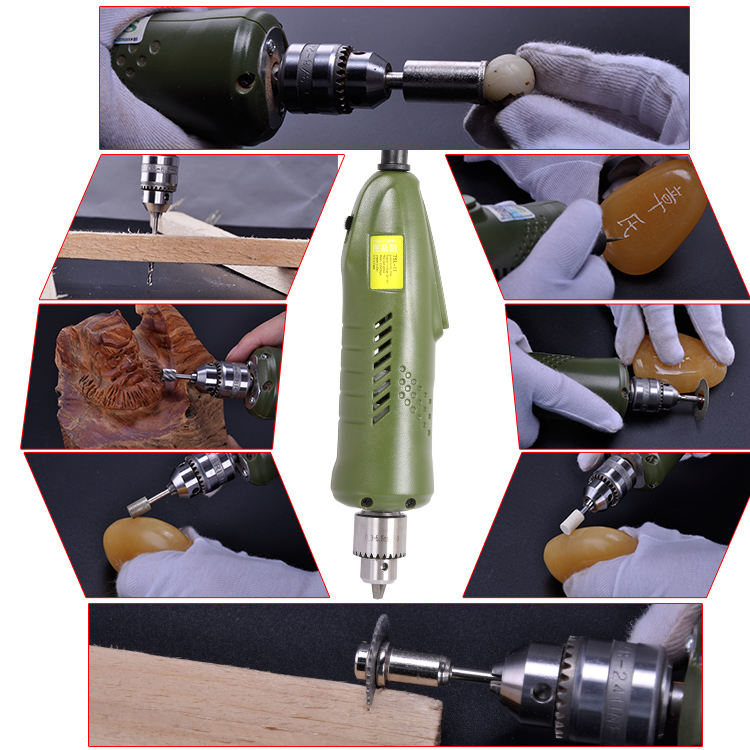 Wide clamping 0.3-6.5mm electric mini grinder tool set