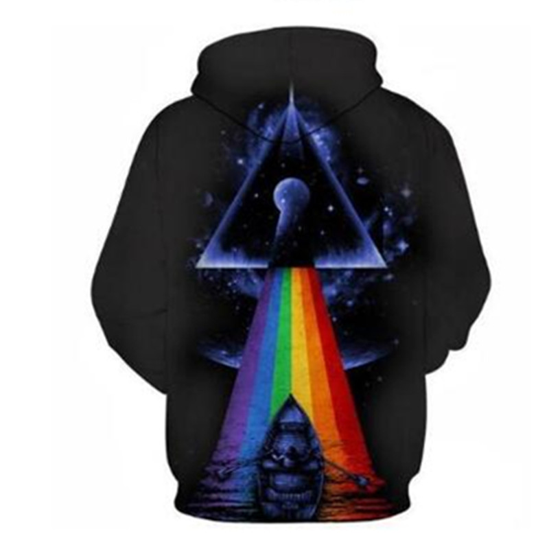 Custom Mens 3D Print Pullover Hoodies Big Size Polyester Sweatshirts