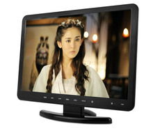 12 volt 16:9 tv tv made in China 15.4 inch with DVD combo