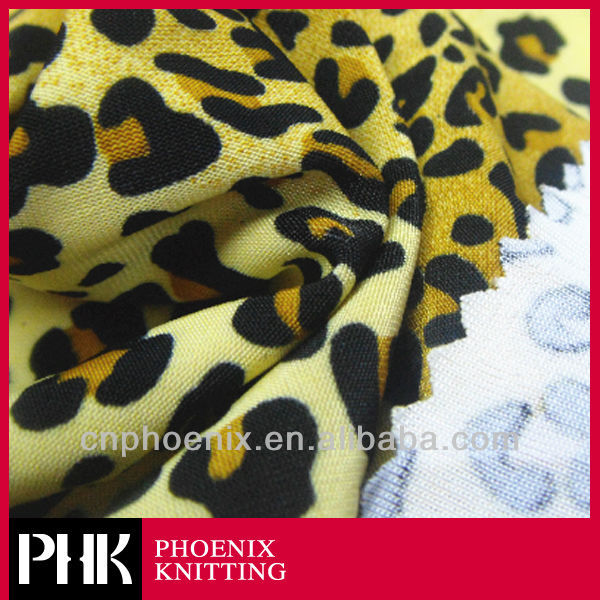 FDY LEOPARD PRINTED FABRIC