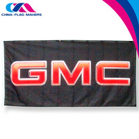 custom cheap made logo atv 100% polyester flag for sale