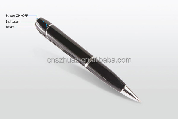 HD 720p WIFI hidden camera pen with IOS and android app, p2p pen camera with sd card to 32gb accept OEM/ODM