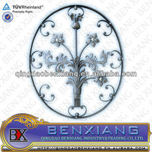 iron panel wrought iron componet ornamental iron rosette