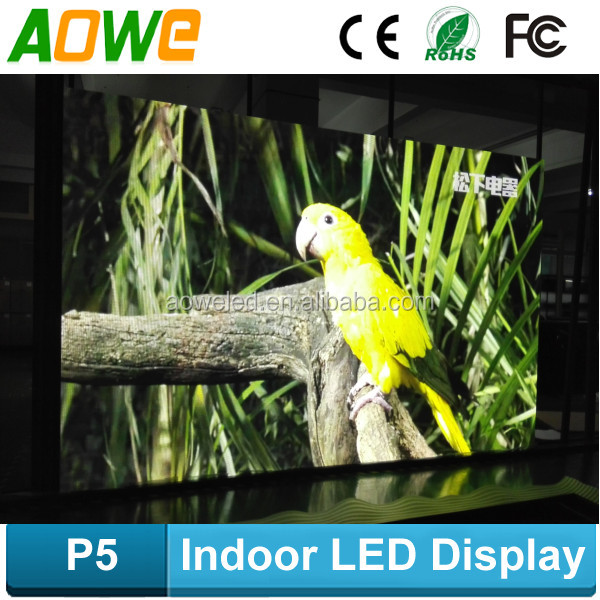 HD and high brightness full color SMD p5 led display for indoor stage usage