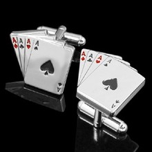 Playing Cards Cufflinks Wholesale & Retail aigner cufflinks