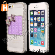 China Wholesale New Arrival Bling Sparkling Rhinestone Crystal Crown Design Diamond+PC Hard Case for Apple iPhone 5 5S Case