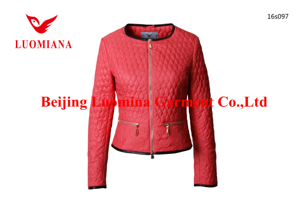 oem luomina short spring&fall business attire jackets women thin padding overcoat ladies working overalls garment
