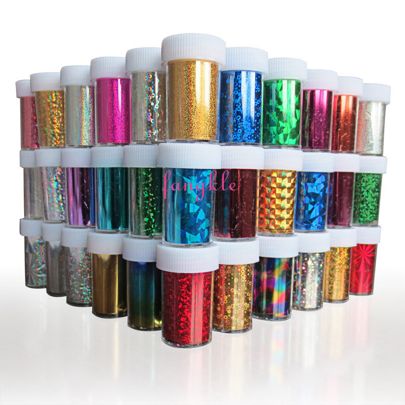 Good quality nail decoration paper holographic laser nail art foil transfer