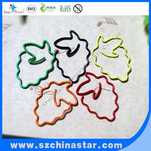 Plastic coated colorful Fruit paper clip supplier