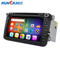 RUNGRACE android capacitive touch screen car double din accessories vw tiguan dvd player gps