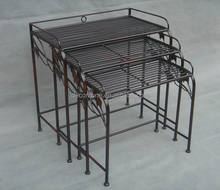 Antique Metal Nested Table For Wholesale