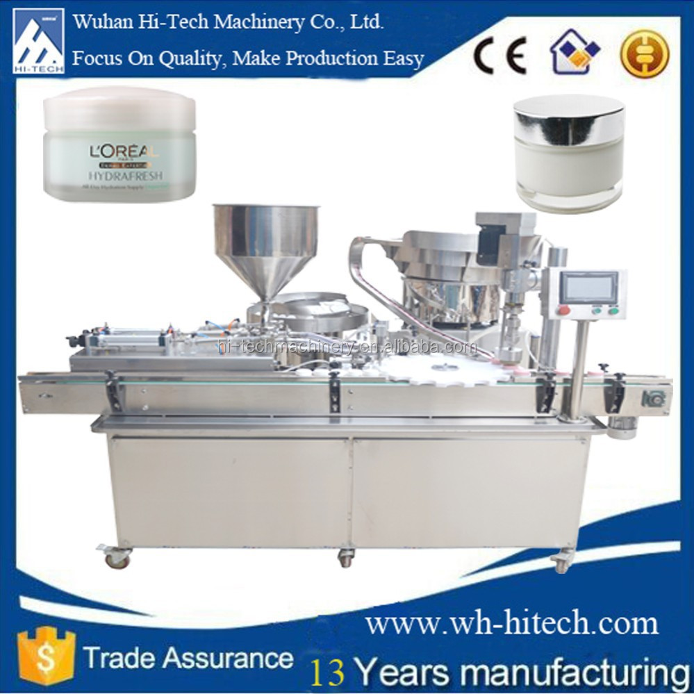 China manufacturing Automatic small bottle cream filling /packing machine