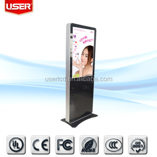 Latest fashion government office india digital signage advertising HDMI/VGA/USB/sd cf card with free software