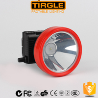 High power led rechargeable head light, battery meter headlamp