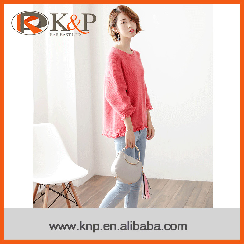 Factory price top quality oem service women pullover sweater 2016