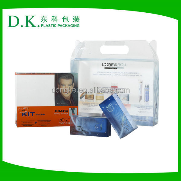 Foldable Hard Plastic Transparent Box For Packaging Skin Care