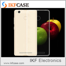 Ultrathin Clear Crystal Soft silicone Cover Transparent TPU Case For Xiaomi Redmi 3 Redmi 3 Pro