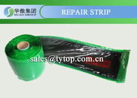 conveyor belt repair band with cold bond adhesive