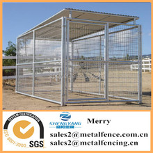 6'X12' meta steel tubing welded wire mesh dog kennel with roof shelter and 1dog runs