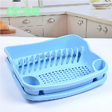 plastic square kitchen dish draining shelf