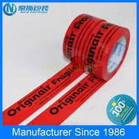 China Printed BOPP Adhesive Tape With Company LOGO and Contact information for Sealing