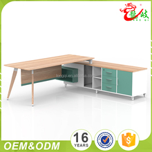 Latest design best price high quality green color 3 drawer luxury modern office furniture