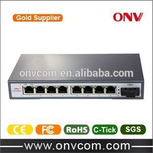 9ch POE Power over Ethernet Switch with 15.4W