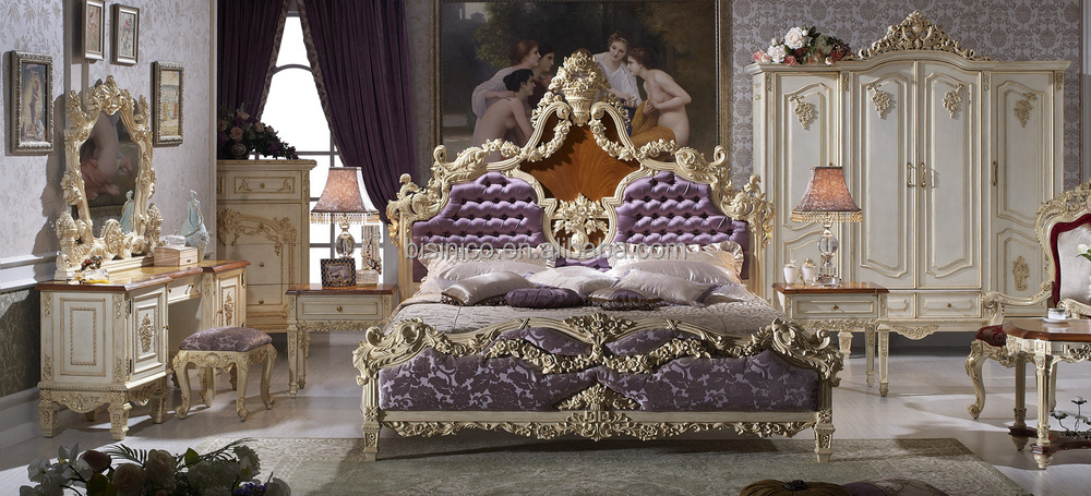 rococo bedroom furniture anqitue baroque bed room set french bedroom