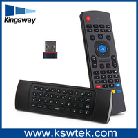 orginal factory 2.4g wireless mini keyboard mx3 3d fly air mouse