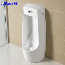 Men's Automatic Sensor wall mount plastic urinal for auto flush