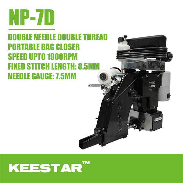 KEESTAR NP-7D With Crape Tape Portable Bag Sewing Machine