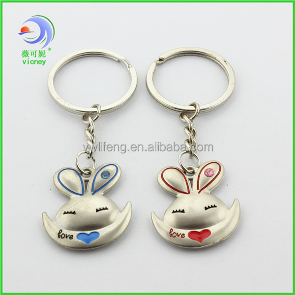 promotional animal shaped plastic keychain for gift