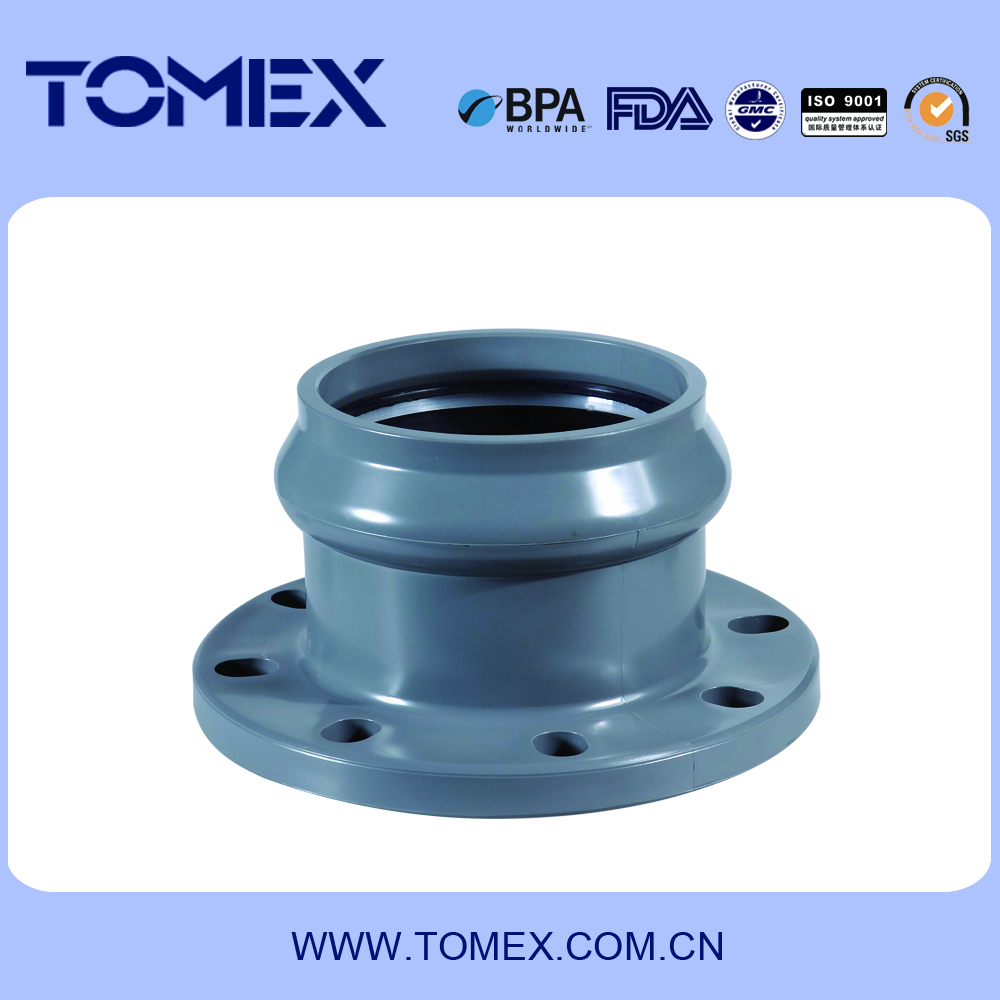 WHOLESALE DIFFERENT SIZE OF R-FLANGES ADAPTER PVC RUBBER FITTING