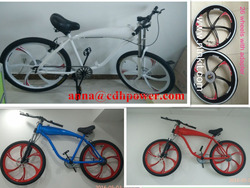 colorful complete gas tank bike/ white , red, blue color bike