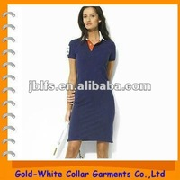 high quality cotton slim polo skirt for women